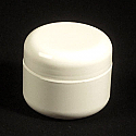 White Double Wall Jar 1oz. 6 pk
