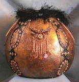 Finished Gourd Art - Antique Bronze Finish Gourd Bowl