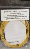 Wire Hollow Wire 1.3mm Brass