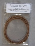 Wire Hollow Wire 1.3mm Bronze