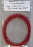 Wire Hollow Wire1.3mm Red