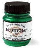 Jacquard Lumiere Acrylic Paint Emerald Green
