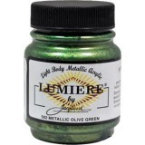 Jacquard Lumiere Acrylic Paint Olive Green