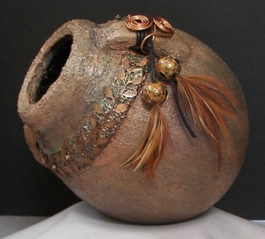 Finished Gourd Art - Gourd Old Pot