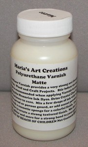 Varnishes/Finishes Maria's Art Creations Polyurethane Indoor/Outdoor Varnish Matte 4 oz.