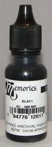 Memories Ink Dye Black