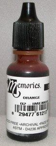 Memories Ink Dye Orange