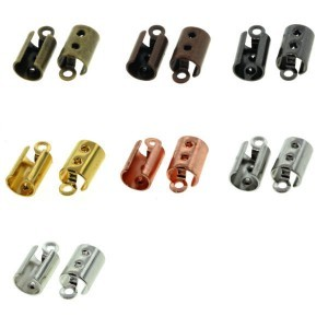 Cord End Silver 25pc.